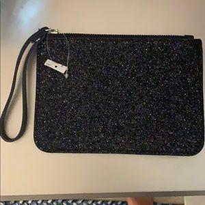 Black glittery old navy clutch